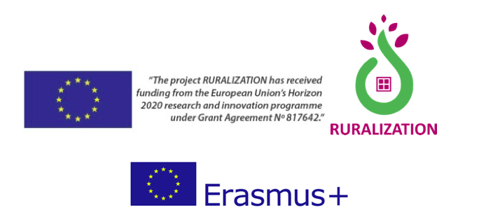 logo Erasmus+ en H2020 Ruralization